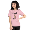 Proud Pitbull Mom T-Shirt Pink S