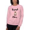 Proud Pitbull Mom Sweatshirt Light Pink S