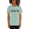 All Women Created Equal Dachshund T-Shirt Heather Prism Dusty Blue XS