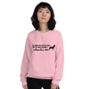 All Women Created Equal Rottweiler Sweatshirt Light Pink S