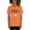 All Women Created Equal Jack Russel Terrier T-Shirt Burnt Orange XS