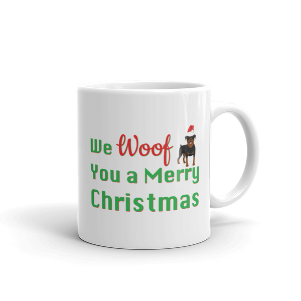 We Woof You A Merry Christmas Rottweiler Mug