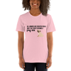 All Women Created Equal Pug T-Shirt Pink S