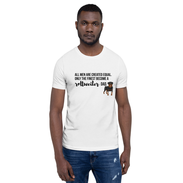 All Men Created Equal Rottweiler T-Shirt White XS