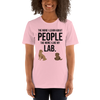 The More I Like My Lab Women's T-Shirt Pink S