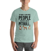 The More I Like My Pitbull Men's T-Shirt Heather Prism Dusty Blue XS