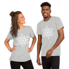White Pawflake Unisex T-Shirt Athletic Heather S