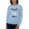 Proud Jack Russel Terrier Mom Sweatshirt Light Blue S