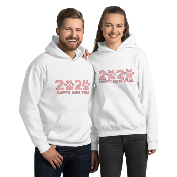Pink Happy New Year 2020 Unisex Hoodie