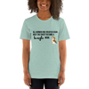 All Women Created Equal Beagle T-Shirt Heather Prism Dusty Blue XS