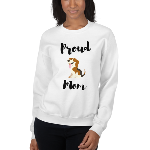 Proud Beagle Mom Sweatshirt White S