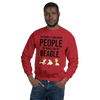 The More I Like My Beagle Men's Sweatshirt Red S