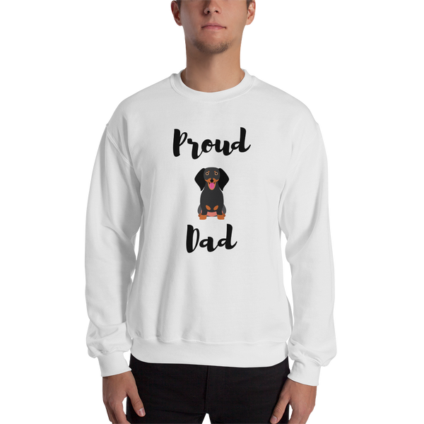 Proud Dachshund Dad Sweatshirt White S