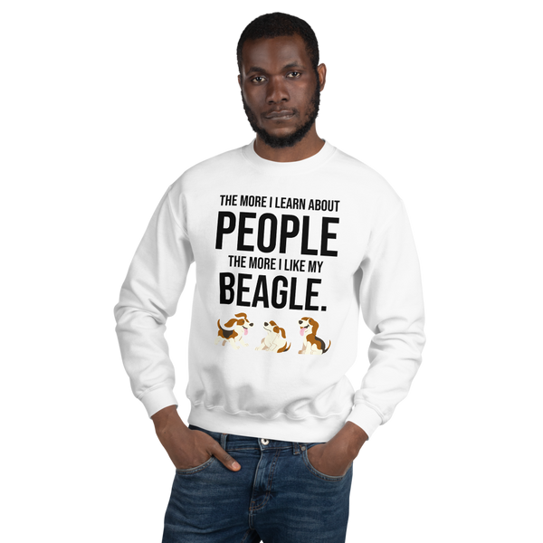 The More I Like My Beagle Men's Sweatshirt White S