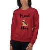 Proud Shepherd Mom Sweatshirt Red S