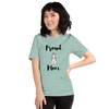 Proud Husky Mom T-Shirt Heather Prism Dusty Blue XS