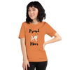 Proud Jack Russel Terrier Mom T-Shirt Burnt Orange XS