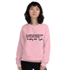 All Women Created Equal Husky Sweatshirt Light Pink S