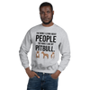 The More I Like My Pitbull Men's Sweatshirt Sport Grey S