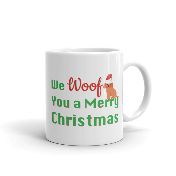 We Woof You A Merry Christmas Poodle Mug