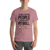 The More I Like My Pitbull Men's T-Shirt Heather Orchid S