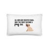 All Men Created Equal Pug Pillow 20×12
