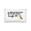 All Women Created Equal Beagle Pillow 20×12