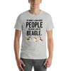 The More I Like My Beagle Men's T-Shirt Athletic Heather S