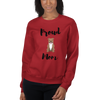 Proud Pitbull Mom Sweatshirt Red S