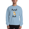 Proud Corgi Dad Sweatshirt Light Blue S