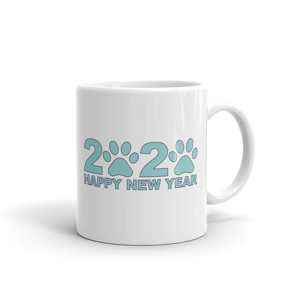 Blue Happy New Year 2020 Mug