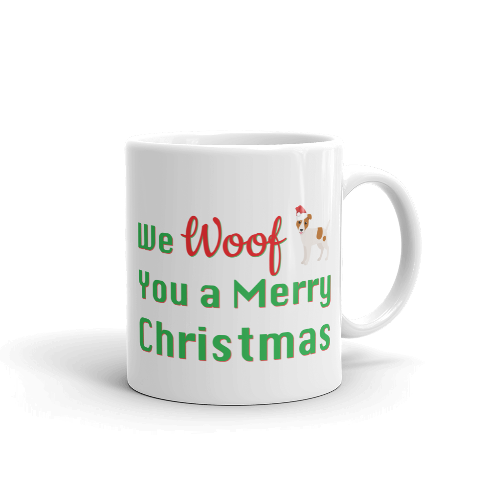 We Woof You A Merry Christmas Jack Russel Terrier Mug