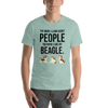 The More I Like My Beagle Men's T-Shirt Heather Prism Dusty Blue XS