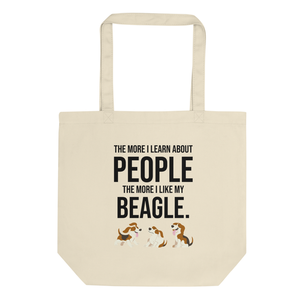The More I Like My Beagle Tote Bag