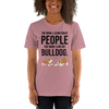The More I Like My Bulldog Women's T-Shirt Heather Orchid S