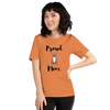 Proud Pitbull Mom T-Shirt Burnt Orange XS