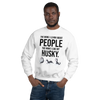 The More I Like My Husky Men's Sweatshirt White S