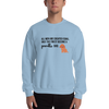 All Men Created Equal Poodle Sweatshirt Light Blue S