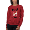 Proud Jack Russel Terrier Mom Sweatshirt Red S