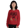 The More I Like My Lab Women's Sweatshirt Red S