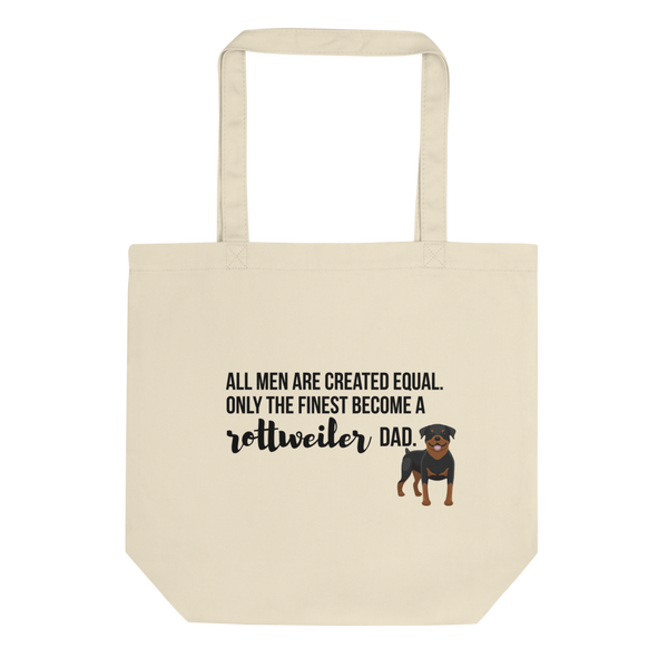 All Men Created Equal Rottweiler Tote Bag