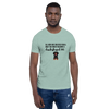 All Men Created Equal Dachshund T-Shirt Heather Prism Dusty Blue XS