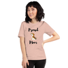 Proud Beagle Mom T-Shirt Heather Prism Peach XS