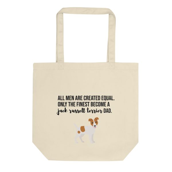All Men Created Equal Jack Russel Terrier Tote Bag