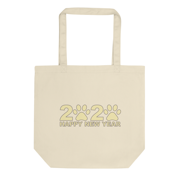 Yellow Happy New Year 2020 Tote Bag