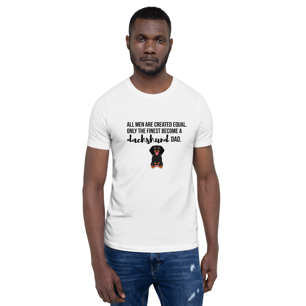 All Men Created Equal Dachshund T-Shirt White XS