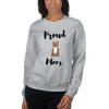 Proud Pitbull Mom Sweatshirt Sport Grey S