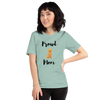 Proud Retriever Mom T-Shirt Heather Prism Dusty Blue XS