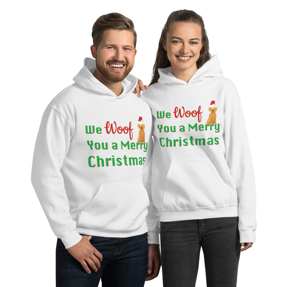We Woof You A Merry Christmas Golden Retriever Hoodie