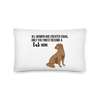 All Women Created Equal Lab Pillow 20×12